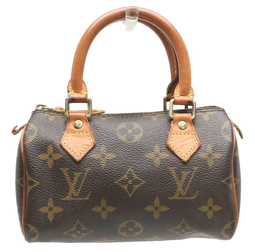 【バッグ】LOUIS VUITTON ルイ ヴィトン モノグラム ミニスピーディ ハンドバッグ ポーチ M41534 【中古】