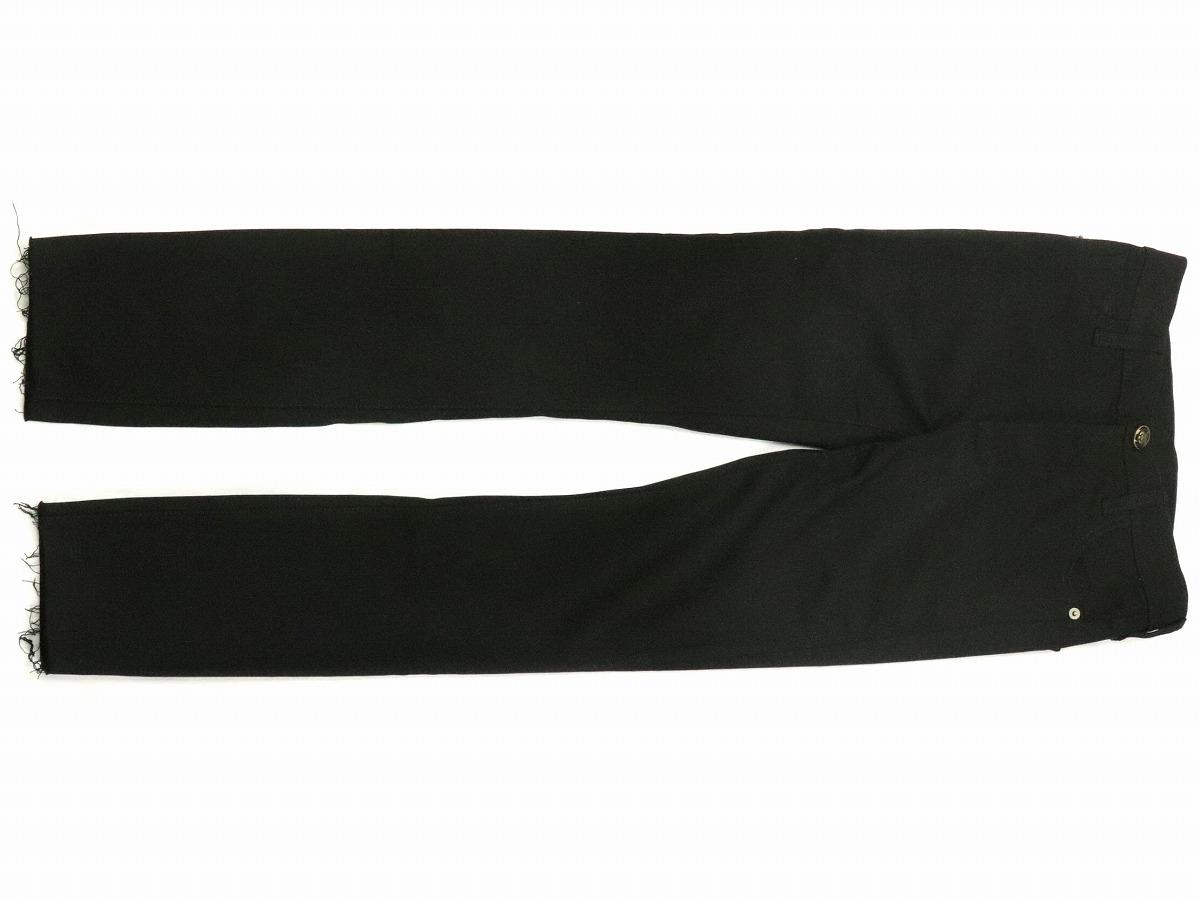 【アパレル】GUCCI グッチ タイガー トラ 虎 スキニー ジーンズ サイズ22 デニム 刺繍 フラワー ブラック 黒 446872 【中古】