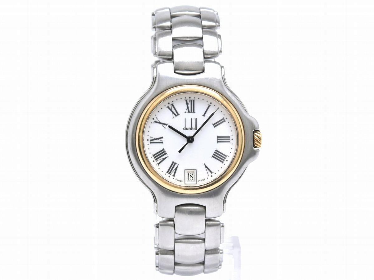 【ウォッチ】 dunhill ダンヒル ロンディニウム メンズ ボーイズ クォーツ ステンレス ゴールド SS K18 YG 腕時計 【中古】