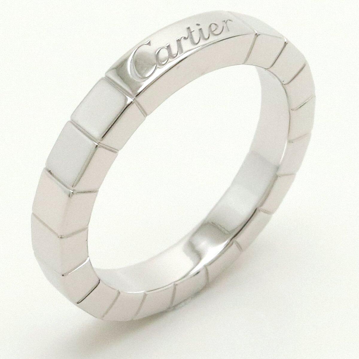 【ジュエリー】【新品仕上げ済】Cartier カルティエ ラニエール リング 指輪 K18WG 750WG ホワイトゴールド 9号 #49 B4045049 【中古】