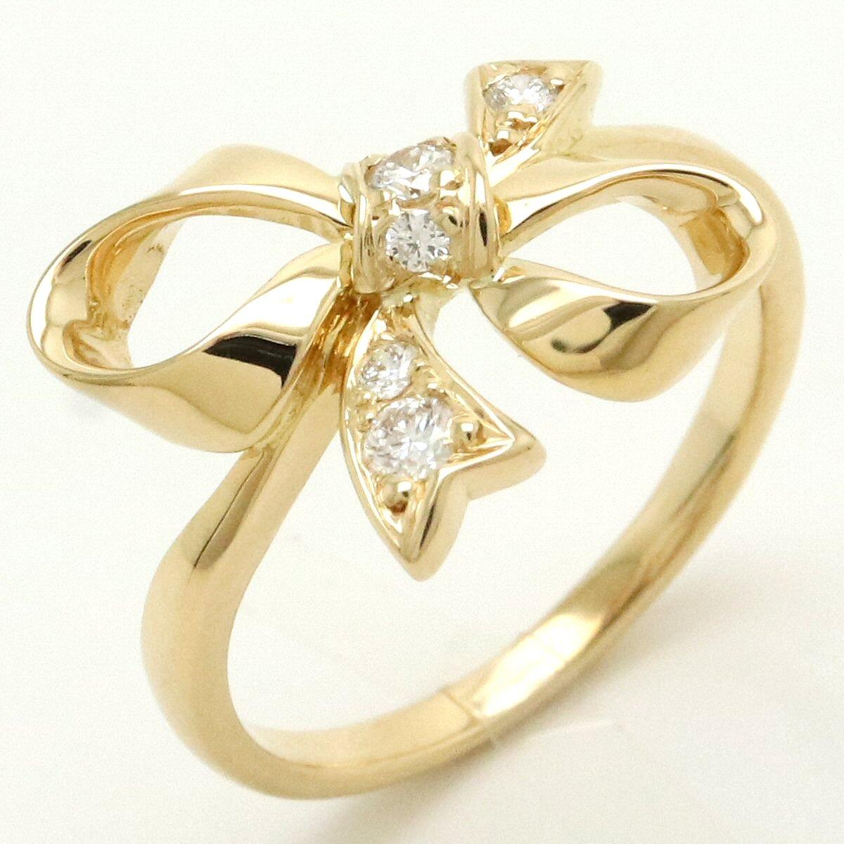 【ジュエリー】【新品仕上げ済み】MIKIMOTO ミキモト ダイヤモンド 0.11ct K18YG イエローゴールド #9 49号 【中古】