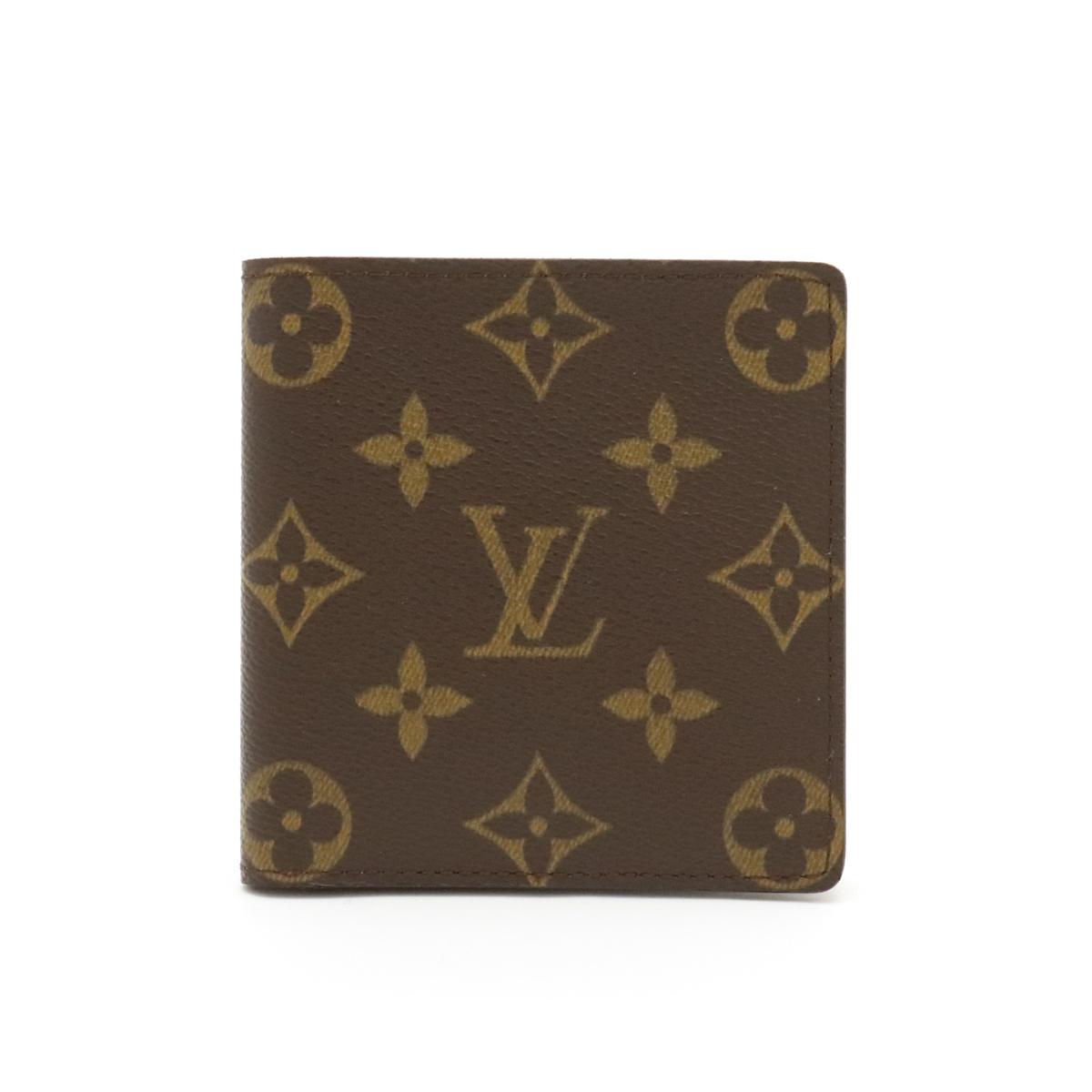 【財布】LOUIS VUITTON ルイ ヴィトン モノグラム ポルト ビエ 6カルトクレディ 2つ折札入れ M60929 【中古】