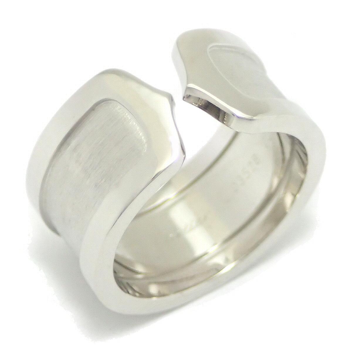 【ジュエリー】【新品仕上げ済】Cartier カルティエ C ドゥ カルティエ 2C リング LM ロゴ リング 指輪 13号 #53 K18WG ホワイトゴールド C2 B4040600 B4040650 【中古】