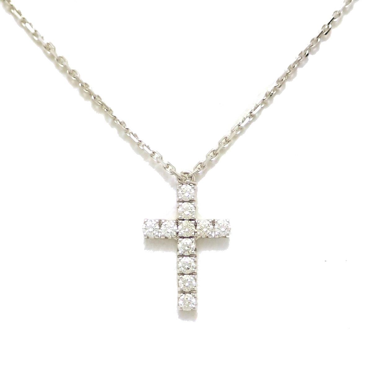 【ジュエリー】【新品仕上げ済】Cartier カルティエ シンボルクロス ネックレス K18WG ホワイトゴールド ダイヤモンド 【中古】