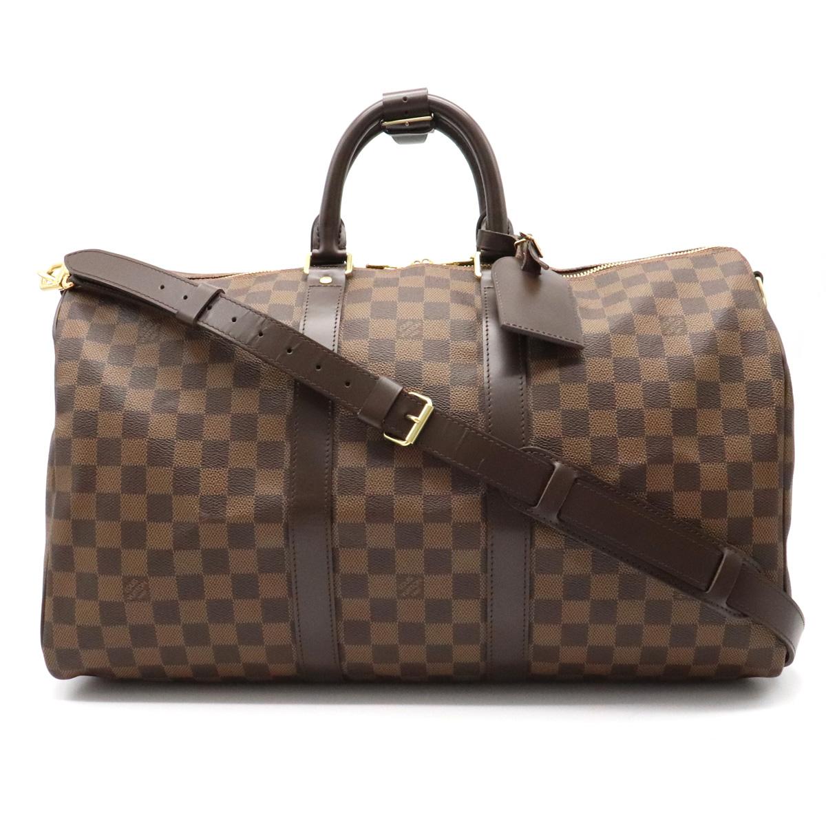 【バッグ】LOUIS VUITTON ルイ ヴィトン ダミエグラフィット キーポルバンドリエール45 ボストンバッグ 旅行カバン 2WAYショルダー イニシャル入り N41428 【中古】