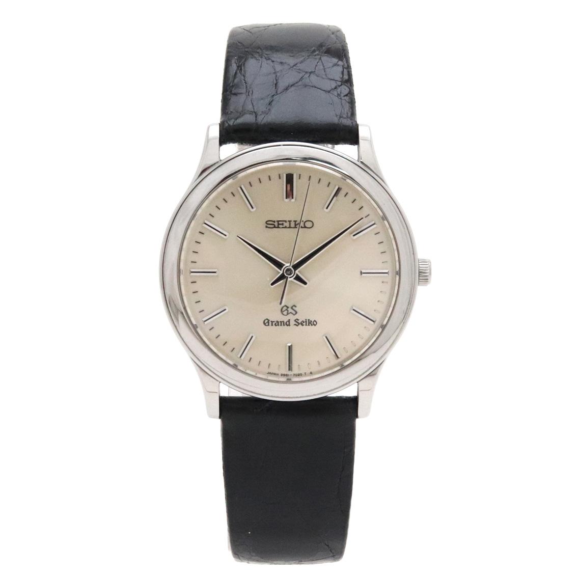 メンズ 交換無料 ブランド 腕時計 アクセサリー ウォッチ SEIKO セイコー GRANDSEIKO 中古 9581-7020 SS 待望 クォーツ SBGS009 シルバー文字盤 グランドセイコー GS