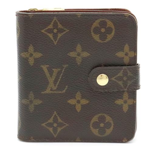 【財布】LOUIS VUITTON ルイ ヴィトン モノグラム コンパクトジップ コの字型 2つ折ファスナー財布 M61667 【中古】