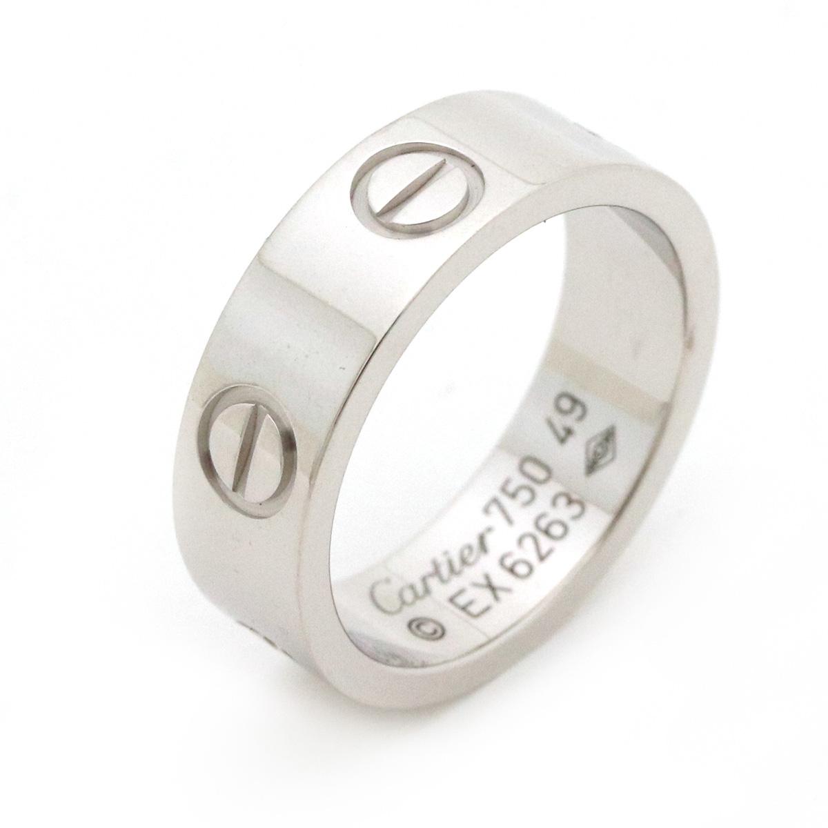 【ジュエリー】【新品仕上げ済】Cartier カルティエ ラブリング 指輪 ウエディングリング K18WG 750WG ホワイトゴールド 9号 #49 B4084700 【中古】