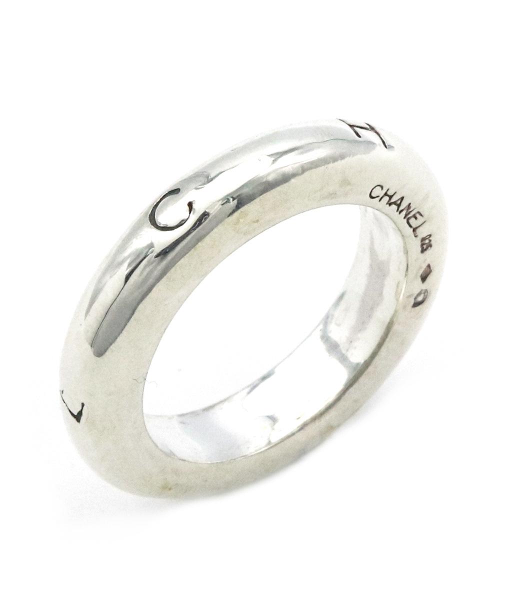【ジュエリー】【新品仕上げ済】CHANEL シャネル ロゴ リング 指輪 SV925 シルバー #12 12号 【中古】