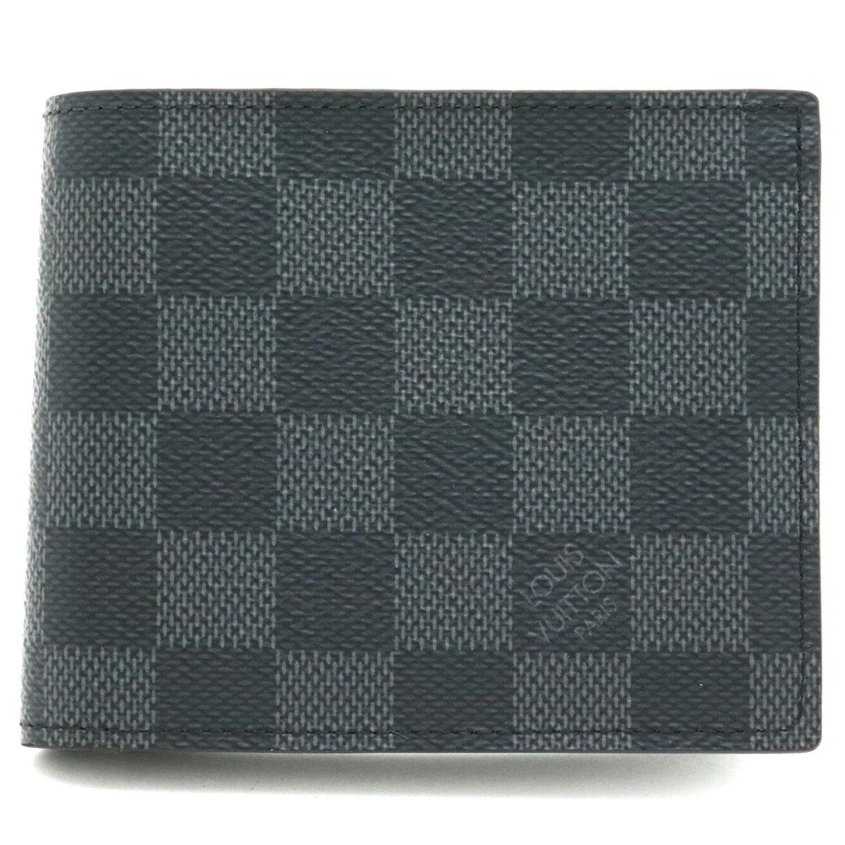 【財布】LOUIS VUITTON ルイ ヴィトン ダミエグラフィット ポルトフォイユ マルコ NM 2つ折財布 二つ折り財布 N63336 【中古】