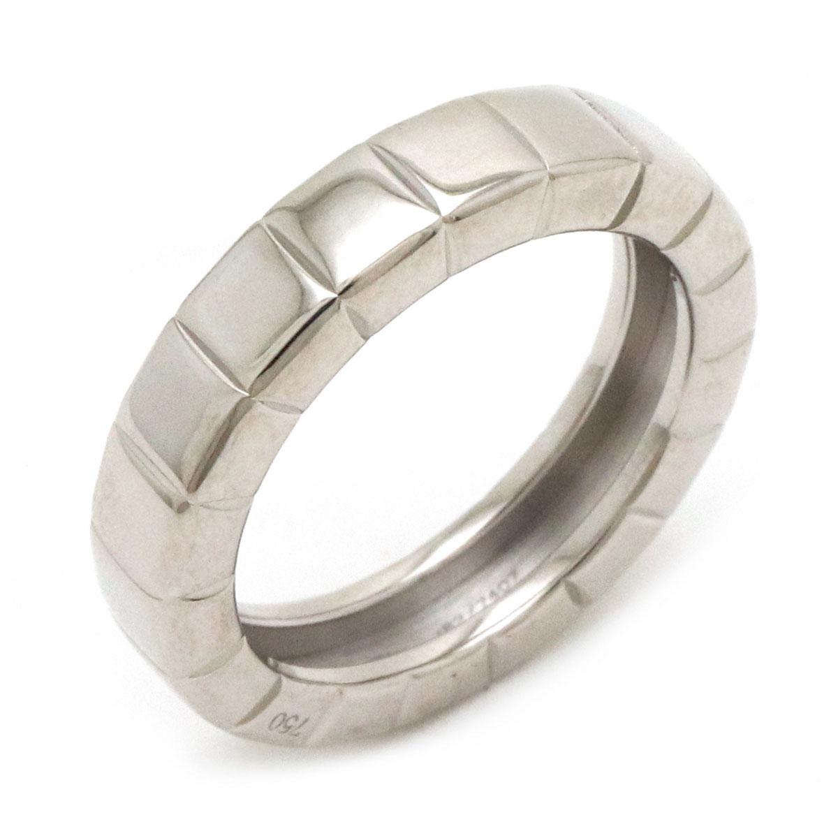 レディース ブランド アクセサリー 指輪 ジュエリー 新品仕上げ済 Chopard ショパール アイスキューブリング 中古 お値打ち価格で 7407 ホワイトゴールド 82 #8 8号 K18WG 新作からSALEアイテム等お得な商品満載 750WG