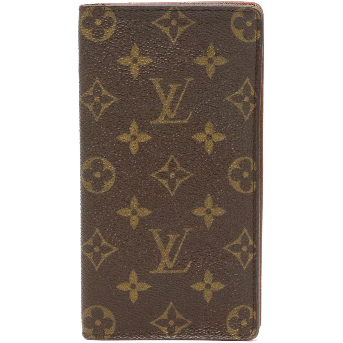 【財布】LOUIS VUITTON ルイ ヴィトン モノグラム ポルト カルト クレディ 円 2つ折 長札入れ M60825 【中古】