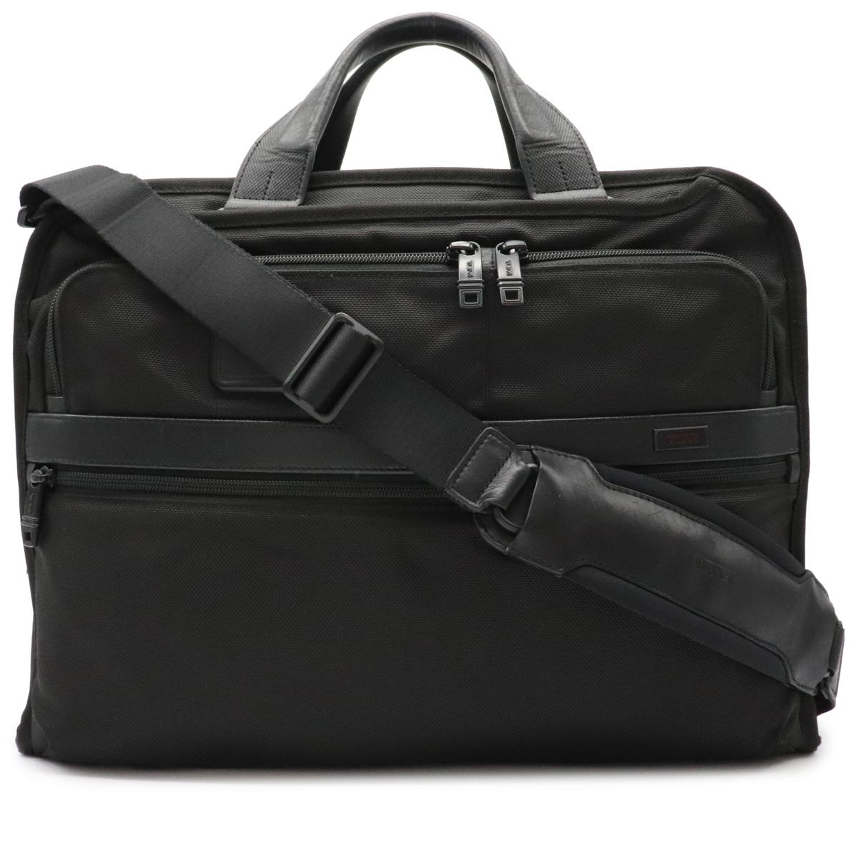 バッグ お買い得品 TUMI トゥミ ALPHA2 アルファ2 オーガナイザー ポートフォリオ ビジネスバッグ 黒 ブリーフケース 予約 ブラック 26108D2 中古 2WAY ショルダー