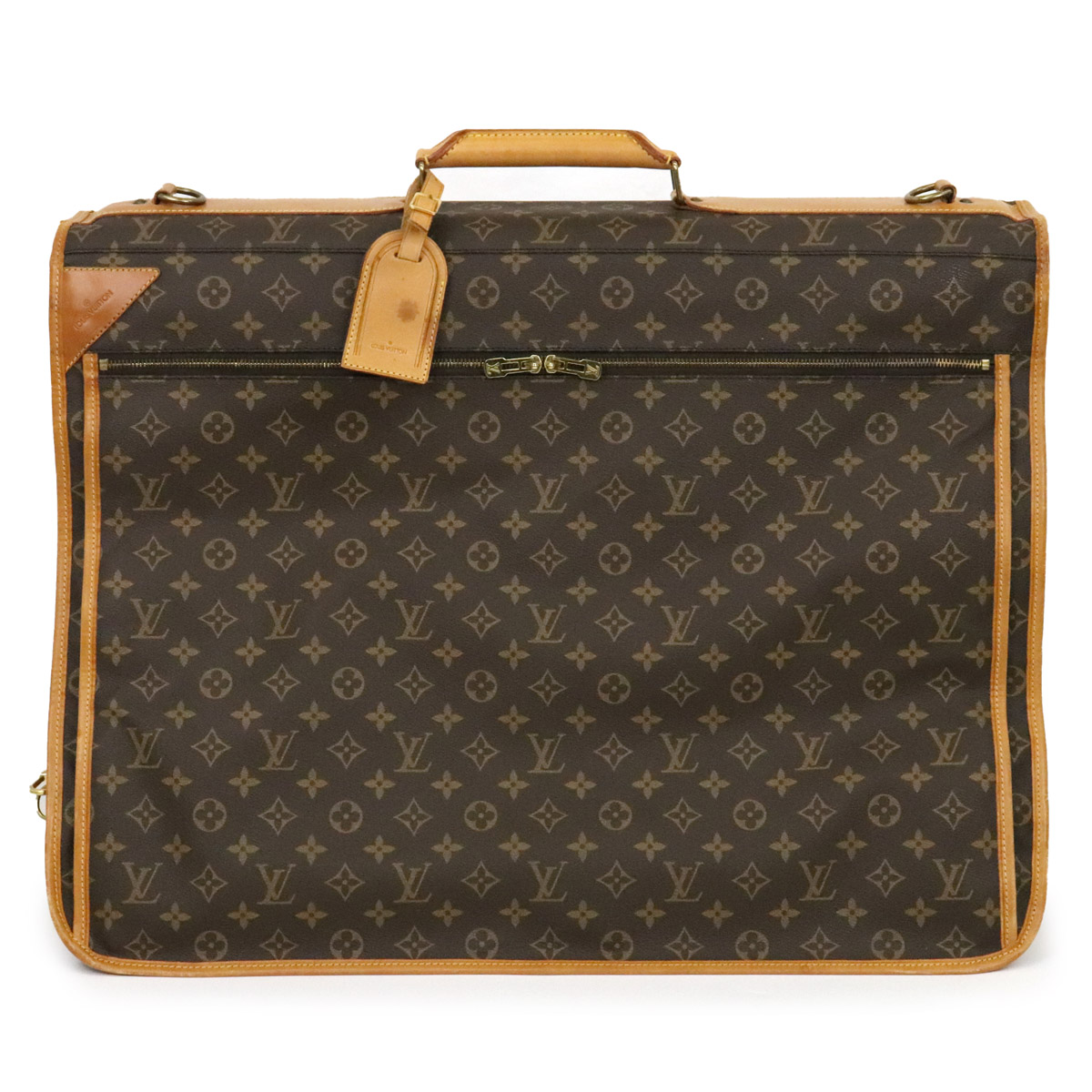 バッグ LOUIS VUITTON ルイ ヴィトン モノグラム ポルタブル スーツカバー サンク 中古 ガーメントカバー M23412 ついに再販開始 ガーメントケース AL完売しました。 サントレ