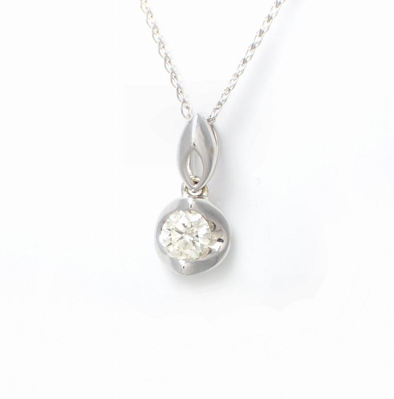 【ジュエリー】ENZO エンツォ ダイヤ ネックレス ペンダント K18WG ホワイトゴールド ダイヤモンド ダイヤ0.31 【中古】【k】