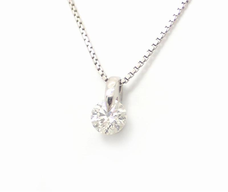 【中古】【ジュエリー】PT900 プラチナ ダイヤモンド ペンダント ネックレス 0.345CT【Blumin/森田質店】【質屋出品】【k】