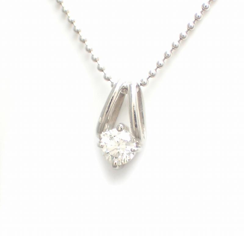 【中古】【ジュエリー】Pt900 Pt850 プラチナ ダイヤモンド ペンダント ネックレス 0.261CT【Blumin/森田質店】【質屋出品】【u】
