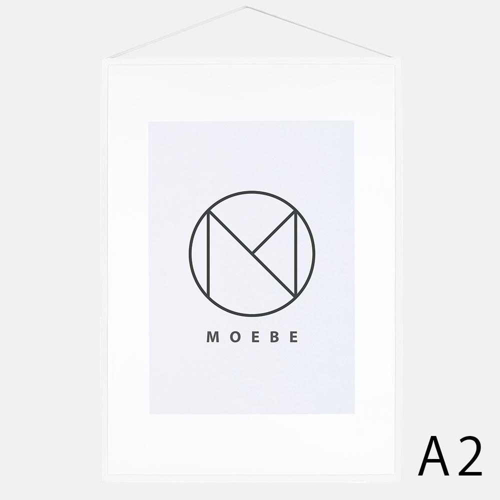 【あす楽対応】MOEBE / フレーム A2(Aluminium(White))【FRAME/アルミニウム/ホワイト/額縁/デンマーク/インテリア/ムーベ】[113175