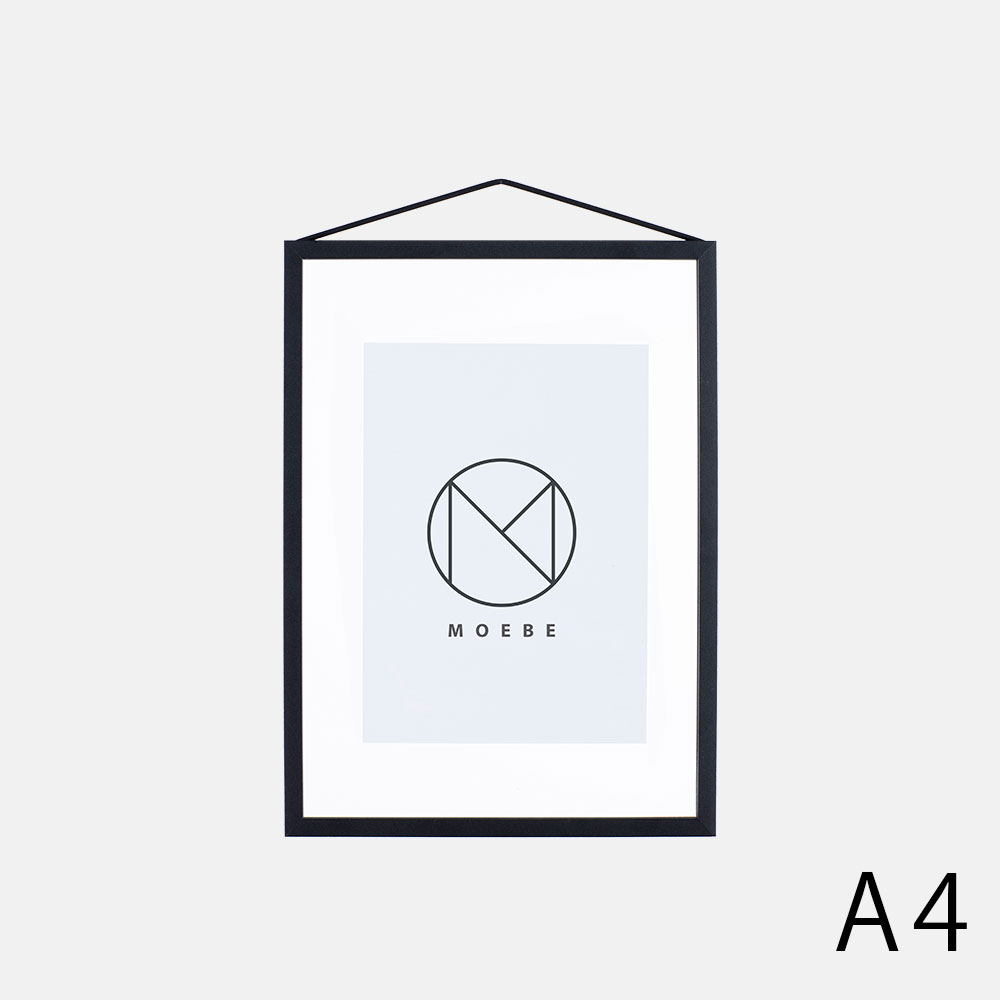 【あす楽対応】MOEBE / フレーム A4(Aluminium(Black)【メール便可 1点まで】【FRAME/アルミニウム/ブラック/額縁/デンマーク/インテリア/ムーベ】[113376