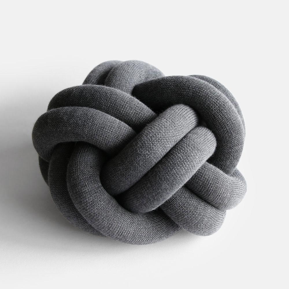 Design House Stockholm[デザインハウスストックホルム] / Knot CUSHION(grey)【ノットクッション/ウール/アクリル/ニット】[113192