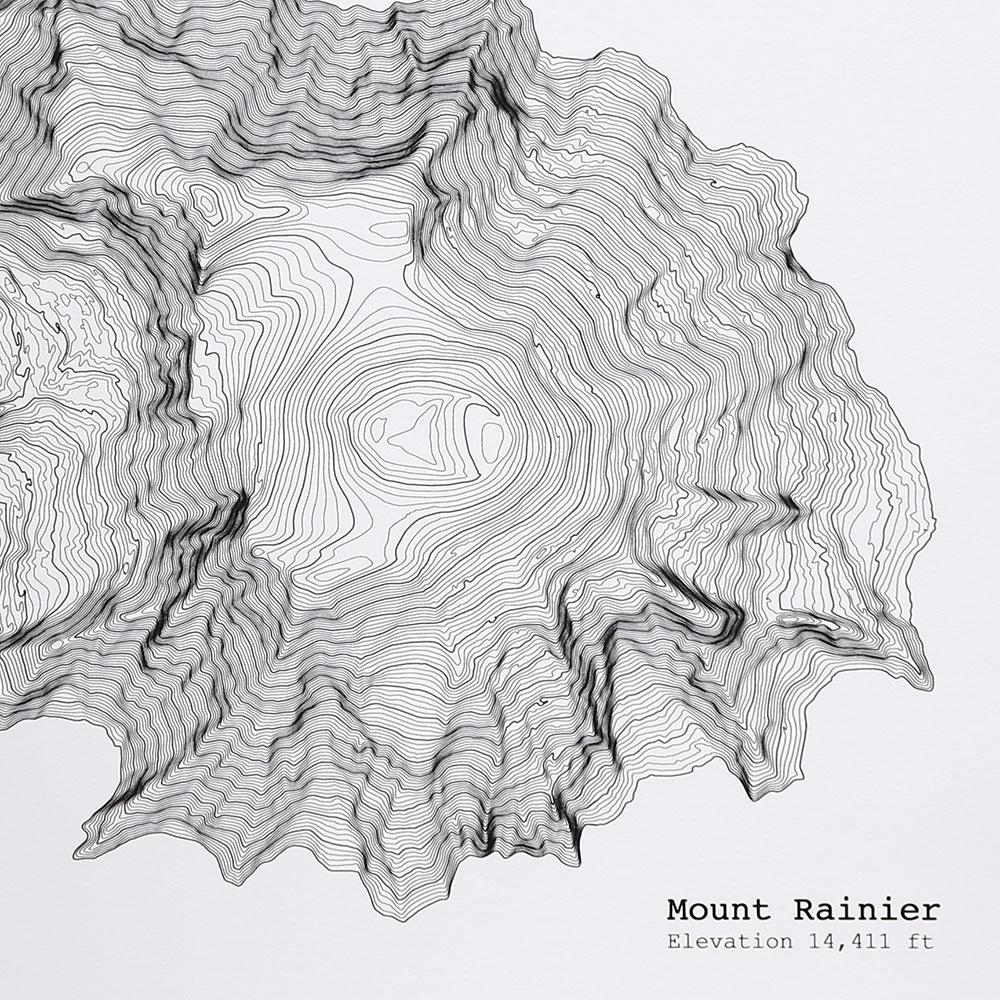 Mt Rainier Topographic Map.Blw Store Tim April Mt Rainier Washington Topographic Map 12