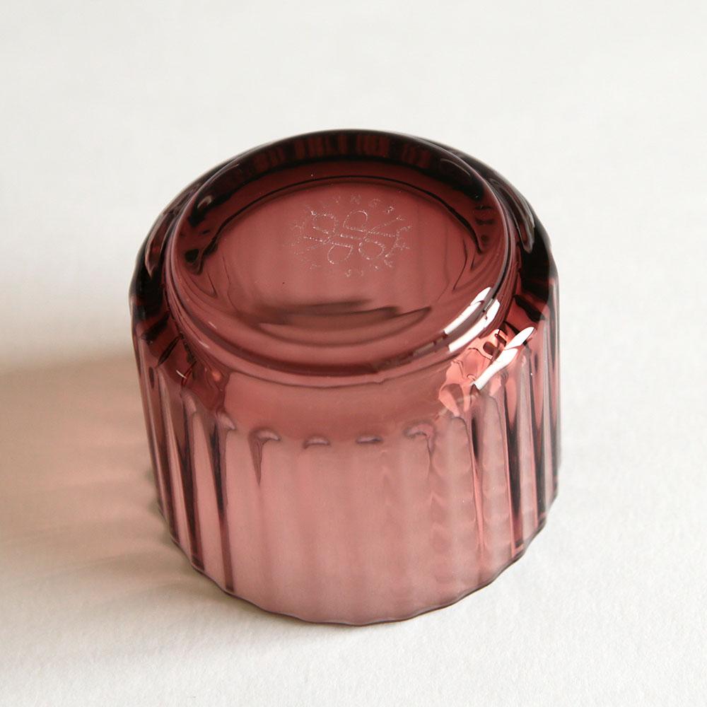 Lyngby Porcelain[ryumbyuposerin]/Tealight holder Glass(Burgundy)[11万3170