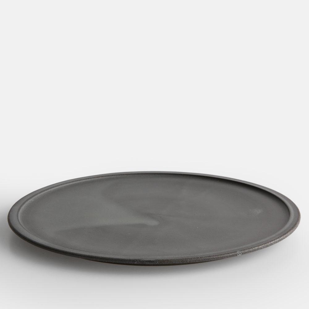 3RD CERAMICS[サードセラミックス] / 黒泥皿(9寸)【大皿/プレート/グレー/美濃焼】[114010