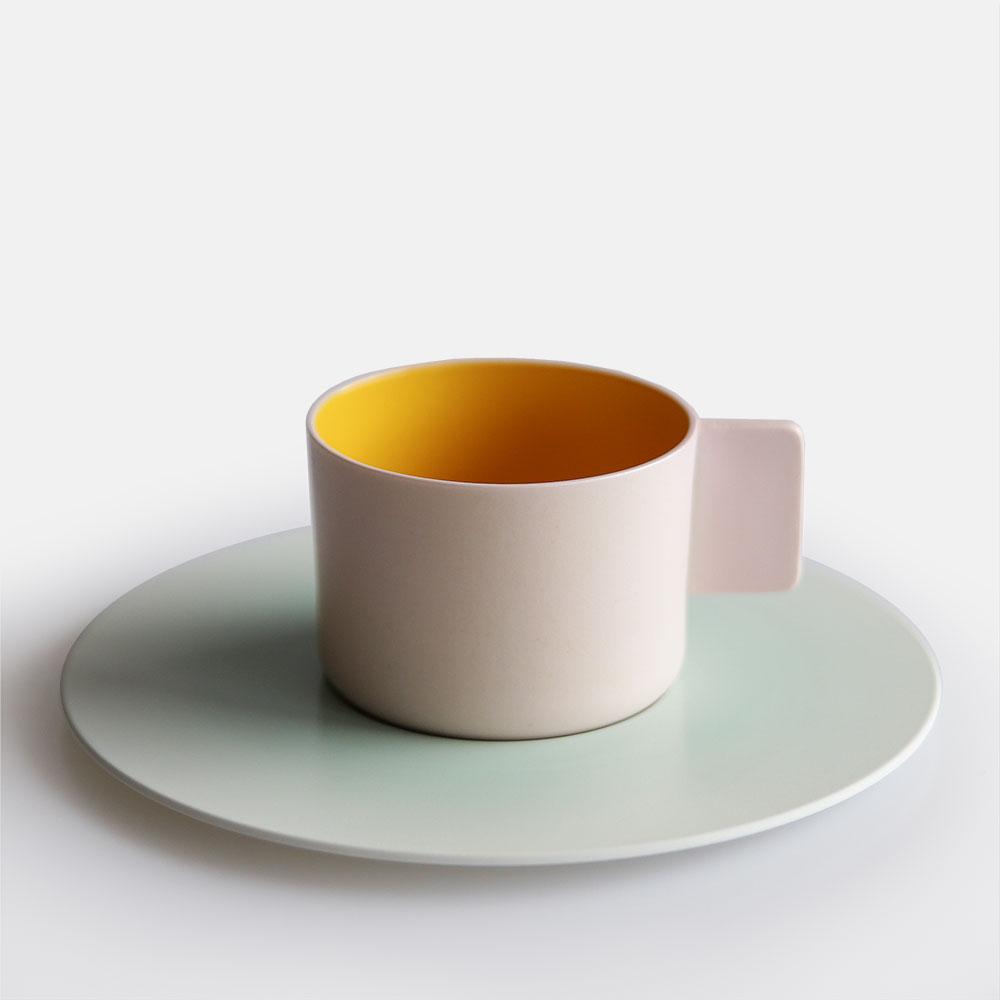 "1616 / arita japan/SB ""Colour Porcelain"" Coffee Cup (pink) [111740"