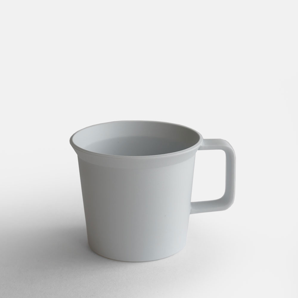 1616 Arita An Ty Standard Coffee Cup W Handle Plain Gray 111215