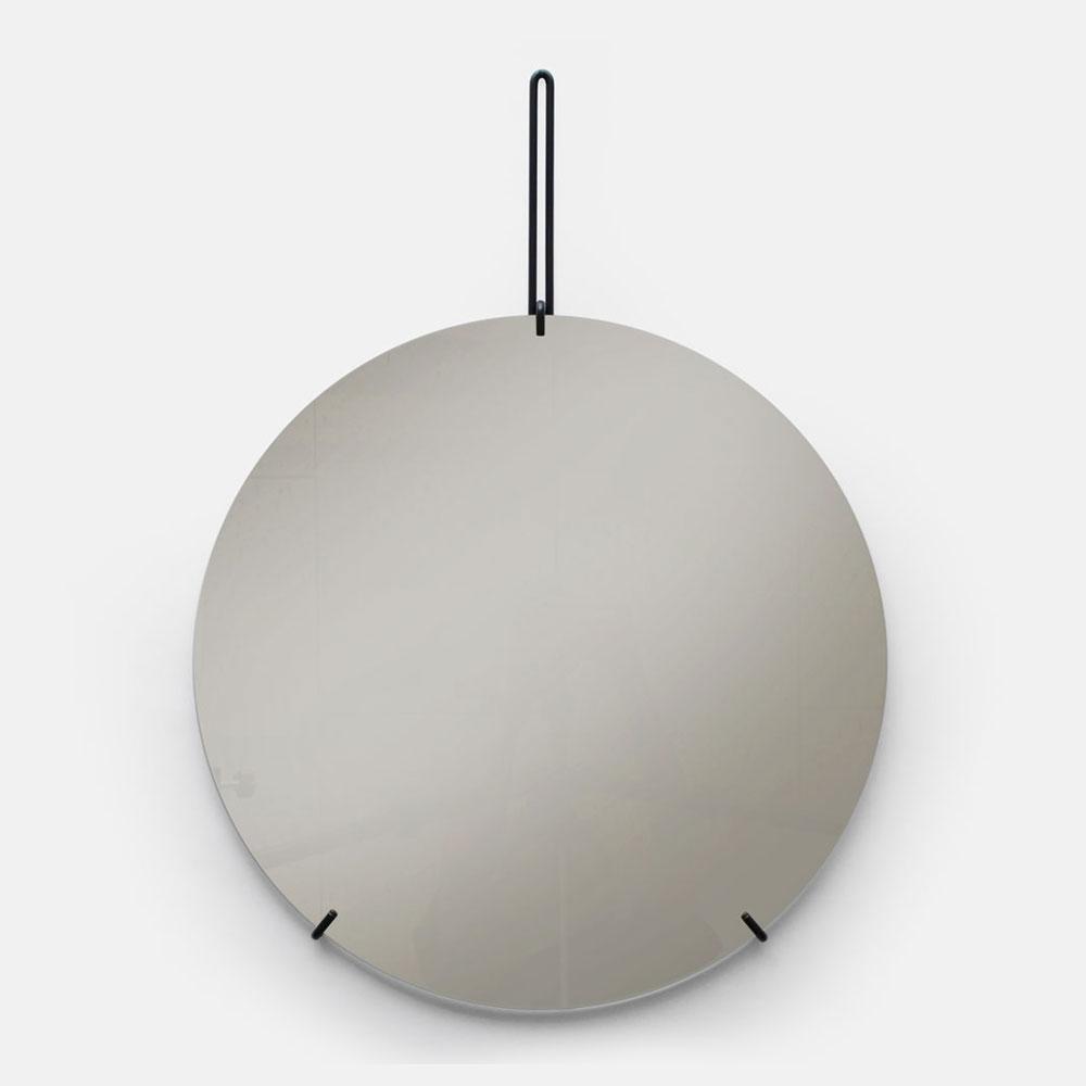MOEBE / WALL MIRROR 50cm(Black)【ウォールミラー/鏡/デンマーク/インテリア/ブラック/スチール】[113381