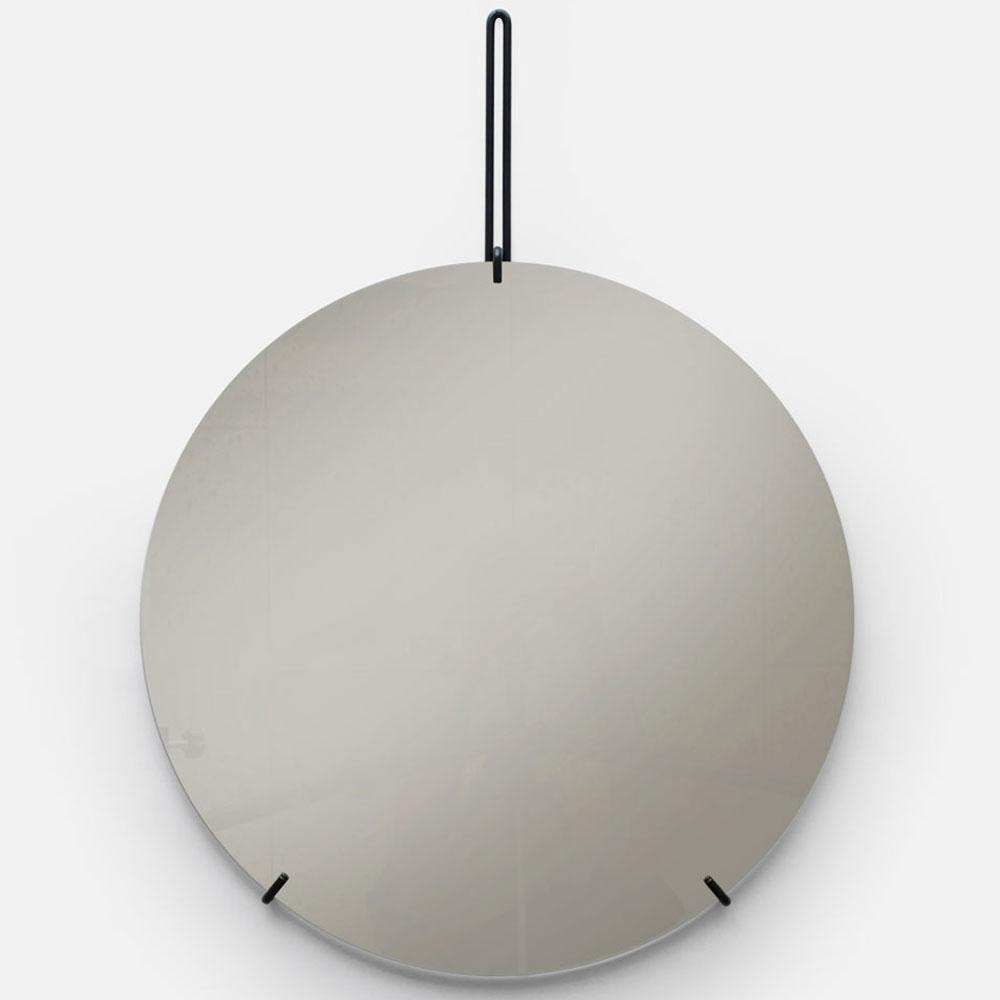 MOEBE / WALL MIRROR 70cm(Black)【ウォールミラー/鏡/デンマーク/インテリア/ブラック/スチール】[113383