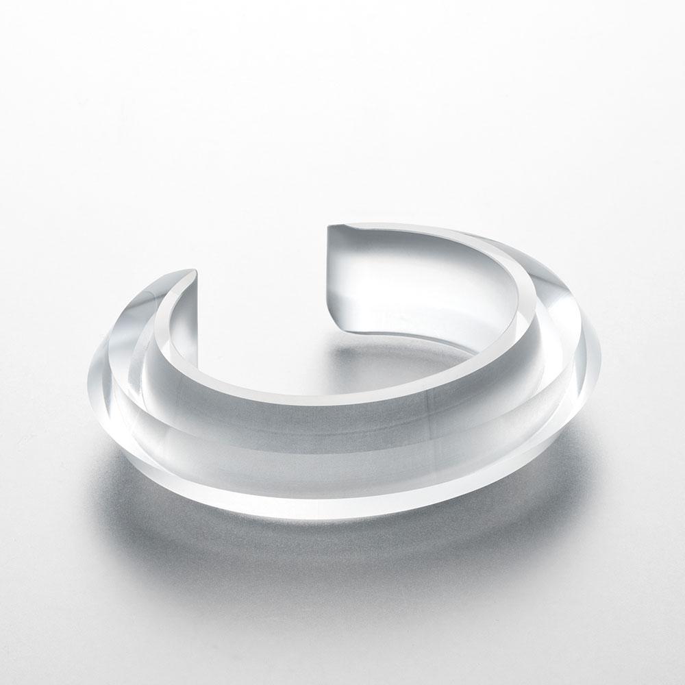 NUEN / CHAMFER BANGLE(CLEAR)【ヌエン/チャンファーバングル/クリア/アクリル/腕輪/アクセサリー】[114807
