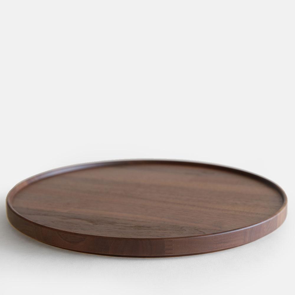 【あす楽対応】HASAMI PORCELAIN[ハサミポーセリン] / TRAY/LID(Walnut) φ30cm/HPWN027【トレイ/ウッドプレート/リッド/ウォールナット】[114457