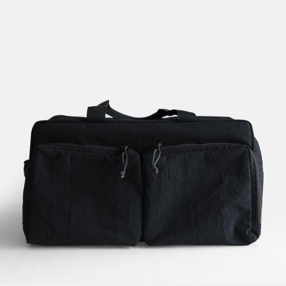kirahvi yhdeksan / kidney - traveling bag(Black)【kirahvi9/キラハビーユフデクサン/キドニー/ボストンバッグ/ブラック/トラベリングバッグ】[114467