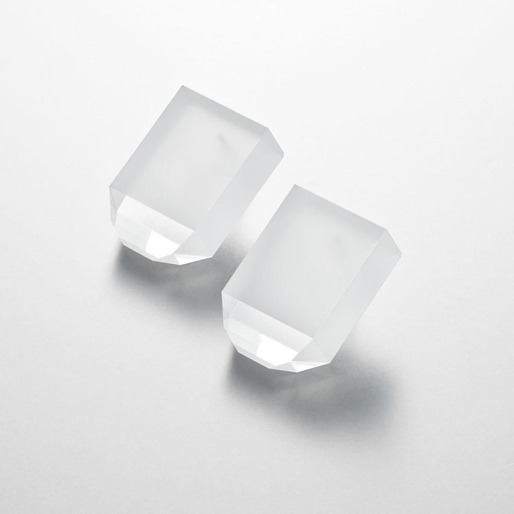 NUEN / SURFACE SHORT EARRING / PIERCE(CLEAR)【ヌエン/サーフェスショートイヤリング/ピアス/クリア/アクリル/アクセサリー】[114569