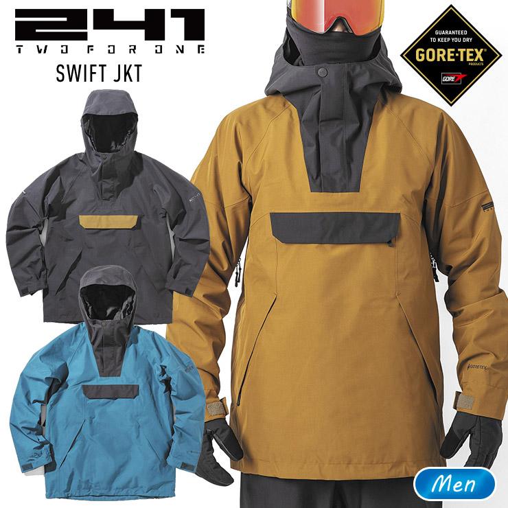 GORE-TEX2層構造のジャケット 241 トゥーフォーワン スイフトジャケット SWIFT JKT メンズ MB1001 高品質 永遠の定番モデル ウェア ゴアテックス スノーボード ぼーだまん スノボー スキー