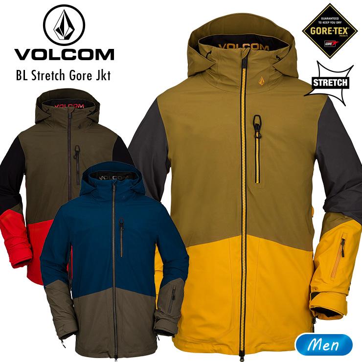 BLストレッチゴアテックスジャケット VOLCOM スノーボード JACKET ボルコム スノボ【ぼーだまん】 STRETCH 2021 20-21 ウェア スノーウェア GORE BL