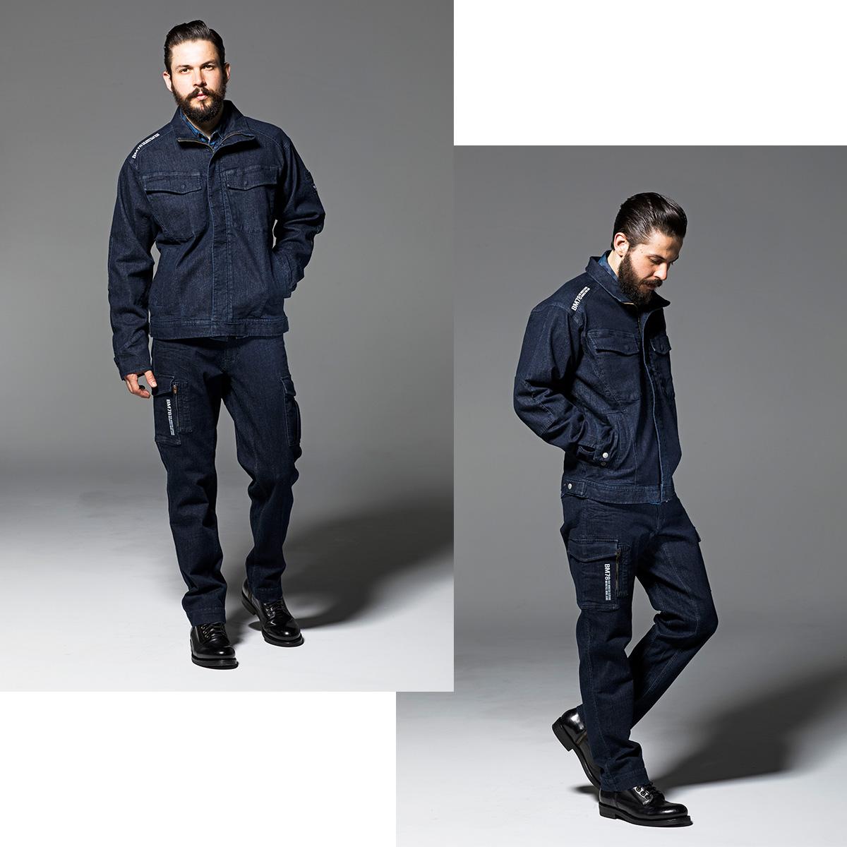 Bmc Tokyo The Size That The Stretch Denim Urban Jacket Men Size
