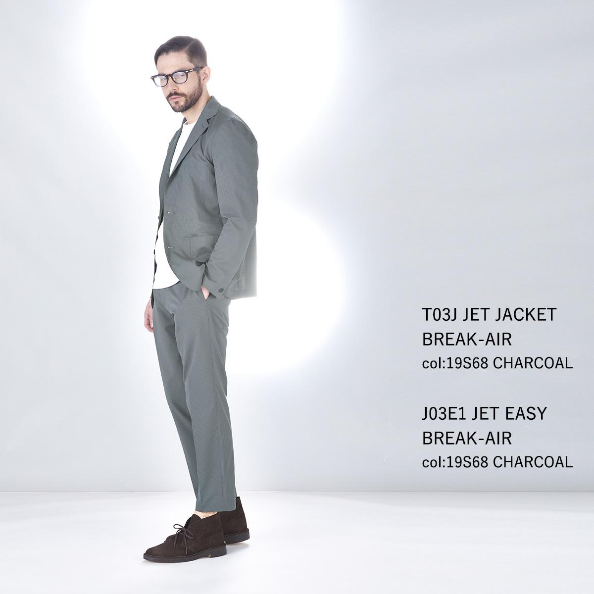 【セール】BMC スーツ メンズ 東レドットエア素材 吸水速乾 防しわ 軽量 通気性 ストレッチ 家庭洗濯 ジェット ブレイクエアー ジャケット パンツ セットアップ ブラック/ネイビー/グレー M-LL