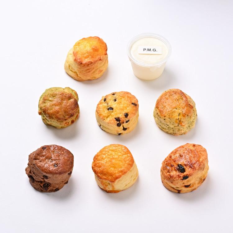 いろんな味のスコーンとホイップバター まずはこのセットで 本物◆ スコーン全種類各1個 計7個 塩バターホイップつき お試し プレゼント ギフト 高品質 おすすめ