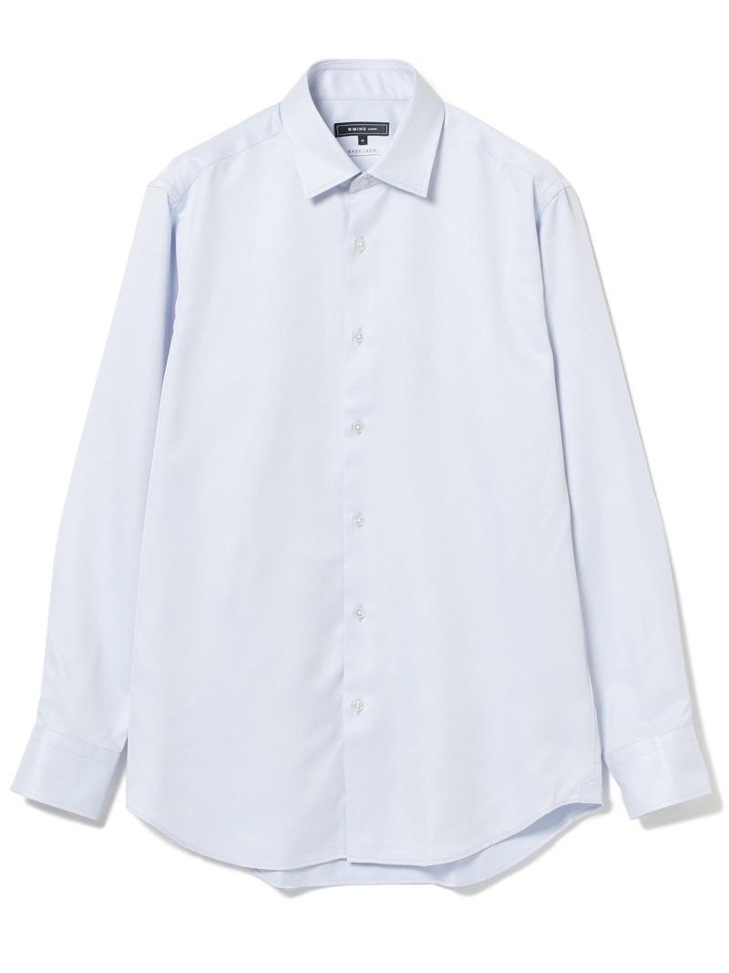 [Rakuten Fashion]B:MING by BEAMS / サーモライト ドレスシャツ BEAMS ビームス B:MING by BEAMS ビーミング ライフストア バイ ビームス シャツ/ブラウス ワイシャツ ブルー ホワイト【送料無料】