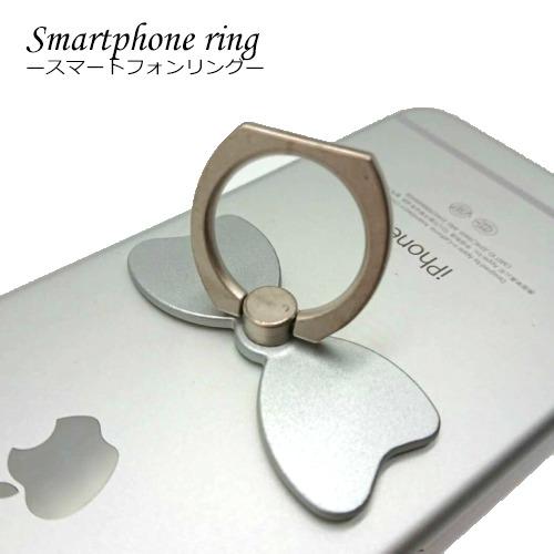 かわいいリボン型リング メール便対応 スマホリング 永遠の定番モデル 携帯リング SMARTPHONE MOUNT バンカーリング リボン型 落下防止 流行のアイテム