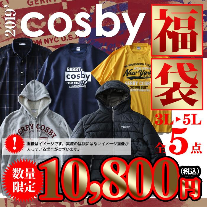 【先行予約販売】【大きいサイズ】【メンズ】[3L・4L・5L]cosby 2019年 福袋(アウター パーカー トレーナー 長袖シャツ 半袖Tシャツ) 数量限定 8560-7411
