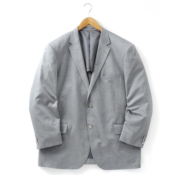 大きいサイズ メンズ [2L・3L・4L・5L]チーフ付ニットジャケット グレー 121318-15