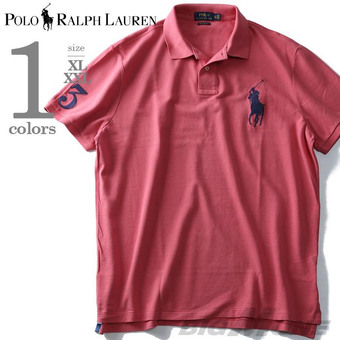 【大きいサイズ】【メンズ】POLO RALPH LAUREN(ポロ ラルフローレン) 半袖ビッグポニー鹿の子ポロシャツ【USA直輸入】710697457003