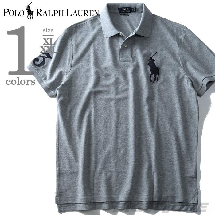 【大きいサイズ】【メンズ】POLO RALPH LAUREN(ポロ ラルフローレン) 半袖ビッグポニー鹿の子ポロシャツ【USA直輸入】710697457005