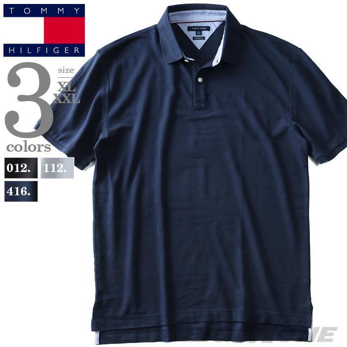 大きいサイズ メンズ TOMMY HILFIGER トミーヒルフィガー 半袖 鹿の子 ポロシャツ USA直輸入 13h1867