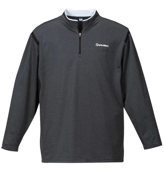 大きいサイズ メンズ TaylorMade コンビネーションジップモックシャツ ブラック杢 1178-7350-2 [4XO・5XO・6XO]