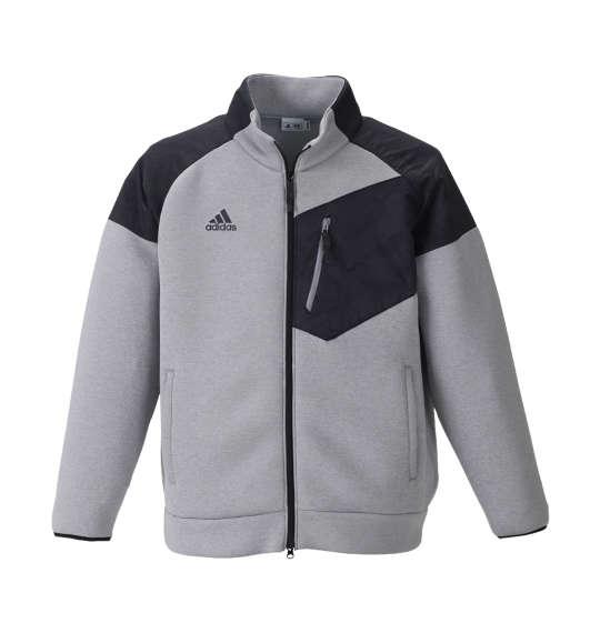 【大きいサイズ】【メンズ】 adidas golf ウルトラライトニットスウェット グレーヘザー 1178-8331-1 [4XO・5XO・6XO・7XO]