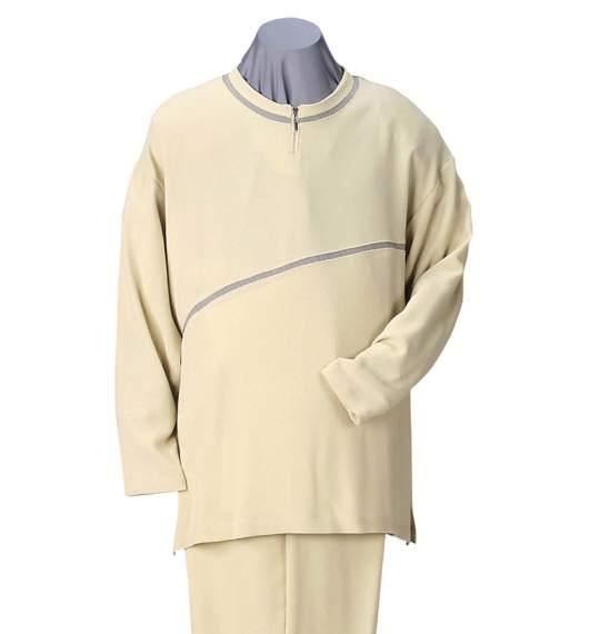 ジップクルーTシャツセット ベージュ 0027-4123-1 【大きいサイズ】[3L・4L・5L]
